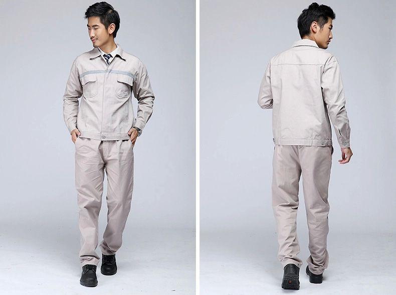 袖袋,肩部,袖口,口袋,下摆——简约实用的设计,让工作服